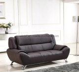 Sofá de cuero moderno del hogar del sofá de la sala de estar del sofá de madera (UL-NS099)