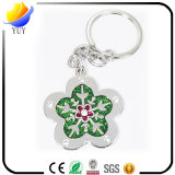 Metal Shaped Keychains de la flor verde