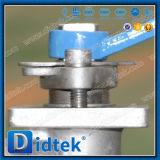 Didtek 4 pouces a bridé robinet à tournant sphérique de flottement d'acier de moulage de l'acier inoxydable CF8m