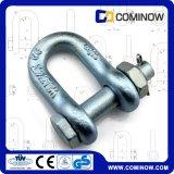 私達ボルトおよびナットG2150が付いているタイプ低下によって造られる炭素鋼のアンカー鎖の手錠
