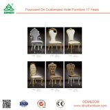 Star Hotel Luxury Restaurant Cadeiras modernas de madeira Cadeiras estofadas