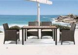 옥외 Leisurerattan4+1 테이블 및 의자 조합