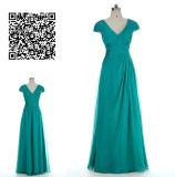 A - linha/vestido baile de finalistas da princesa V Garganta Completo Chiffon com Ruched