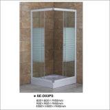 Pièce jointe en verre de douche de piste avec le plateau carré