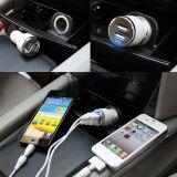 2.4A de dubbele Draagbare Auto Chager van de Telefoon USB voor Mobiele Telefoon