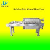 Anti-corrosión de acero inoxidable manual de la placa-marco del filtro de prensa