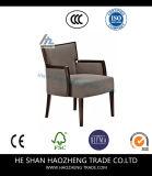 Hzdc144-1 Stoel van het Wapen van het Linnen van het meubilair de Beige