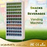 Máquina de venda automática de doces e sopas com 88 seleções