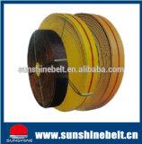2017 heißer verkaufengeschnittener Rand-geläufiger flacher Gummiriemen/Segeltuch mit Gummi für maschinell hergestelltes in China