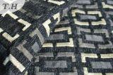 Tissu noir de meubles de Chenille de jacquard (FTH31150)