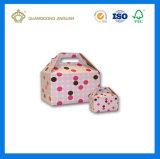 Kundenspezifischer Firmenzeichen-Drucken-Pappträger-Giebel-verpackenkasten (mit Belüftung-Fenster)