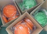 Cubeta portátil dobrável do silicone para tambores de dobramento dos electrodomésticos e ao ar livre do silicone