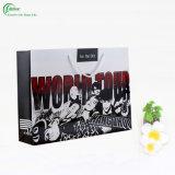 Sac de empaquetage de papier de mode pour les achats (KG-PB006)