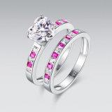 De zilveren het Stapelen van Juwelen Roze Reeks van de Ring