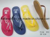 Тапочки размеров женщин PVC единственные с подгонянными, хорошими Flops повелительницы Flip цены (FFDL112201)