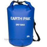Saco de Duffle seco impermeável de encerado feito sob encomenda do PVC do logotipo com o saco 10L seco para a derivação da natação