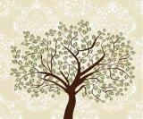 녹색은 가정 훈장을%s 까만 나무 선그림 심상 벽지 색칠을 남겨둔다