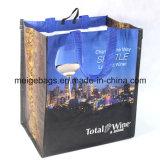 Сплетенный PP мешок покупателя вина, с изготовленный на заказ размером и конструкцией
