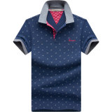 عالة 2017 رجال شريط قميص قطر إستياء [بولو شيرت]