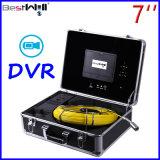 Сделайте камеру Cr110-7D осмотра сточной трубы 23mm с экраном 7 '' цифров LCD & запись водостотьким DVR видео- с кабелем стеклоткани от 20m до 100m