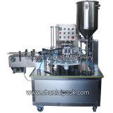 Kis900 tipo giratório enchimento do copo e máquina da selagem
