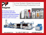 De krachtige Plastic Machine & de Extruder van Thermoforming van de Kop voor Kop PP/PS/Pet