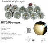 mini DEL Downlight éclairage de RoHS DEL de la CE de 1W AC100-240V 20mm