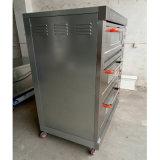 Matériel de boulangerie de machine de cuisine de restauration de four de paquet de gaz pour faire avec cuire au four 3deck 9trays