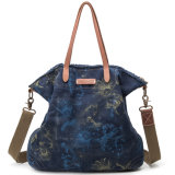 Azo를 가진 인쇄한 화포 어깨에 매는 가방 핸드백은 여자 소녀를 위해 자유롭게 염색한다