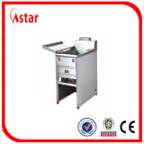 Contro acciaio inossidabile superiore friggitrice del gas da 14 litri per i pesci fritti, Cipolla-Anello fritto, chip fritto del gambero, gamberetto fritto