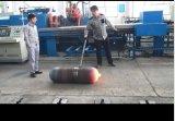 Máquina de giro quente para o cilindro sem emenda