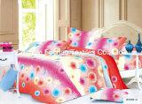 Conjunto barato colorido del lecho de la materia textil de China Suppiler del poliester de la impresión de la cubierta del mismo tamaño casera del Duvet