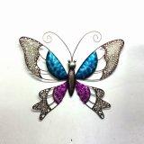 Decoração brilhante moldada da arte da parede da borboleta da cor do metal