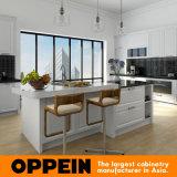 Armadietto classico bianco della cucina di legno solido dell'acero di Oppein (OP16-S03)