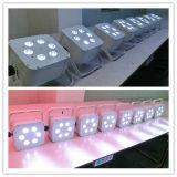 6X18W Rgbawuv 건전지에 의하여 재충전되는 무선 당 빛