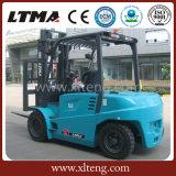Chariot élévateur électrique du chariot élévateur 4t de la Chine avec le mât en deux étapes