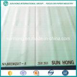 Poliester de la capa doble que forma la tela conveniente para producir el papel de embalaje grande
