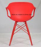 Polypropylen-moderner stapelbarer Arm-Stuhl mit dem Metallbein (LL-0048A)