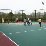 Azulejo de suelo movible del campo de tenis de Futsal, suelo plástico del dispositivo de seguridad de los deportes