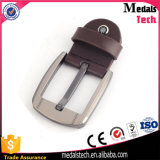 Correia de couro automática de prata feita sob encomenda Buckl do metal de Matt (22mm)