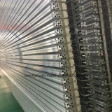 Perfis de alumínio industrial anodizado de extrusão de alumínio / Matt Silver