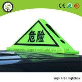 LED al aire libre que hace publicidad del rectángulo ligero superior de la muestra LED del taxi