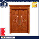 Festes hölzernes Baumaterial-Doppelt-außenpanel-knorrige Erle-Tür