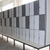 Armario gris claro del color sólido HPL del bajo costo para la escuela