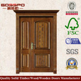 Festes Holz-Fieberhitze-ungleiche doppelte Tür-Haustür für Haus (XS1-008)