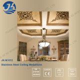 Decoratieve Plafond van de Spiegel van de Laser van het roestvrij staal het Scherpe Gouden