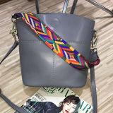 Sacchetto di acquisto variopinto della spalla del cuoio genuino delle borse delle donne di modo della cinghia Emg4594
