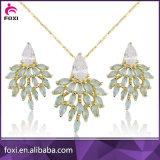 Комплекты ювелирных изделий Eearrings самых последних конструкций привесные Saudi Bridal