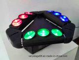 Luz principal movente do feixe da aranha do diodo emissor de luz das cabeças 10W de RGBW 4in1 9