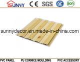 무료 샘플, Cielo Raso De PVC를 가진 집을%s 플라스틱 나무로 되는 색깔 PVC 벽면